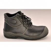 Black Leather Safety Shoe (ABP1-5003)