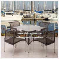 China Outdoor Dining Table Top with Acid Etched Tempered Glass wholesale