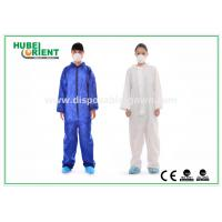 China Protective Safety Blue Disposable Coveralls for Men , Eco Friendly Durable wholesale