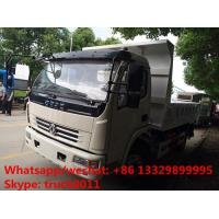 China hot sale dongfeng 4*2 LHD 120hp diesel dump tipper truck, 2017s best seller dongfeng mini 5tons dump truck for sale wholesale