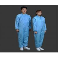 China Safety Clean Room Garments Stand Collar ESD Coverall For Printing Industry on sale