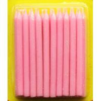 China Light Pink Color Glitter Birthday Candles 20pcs For Girls Party / Valentine's Day wholesale