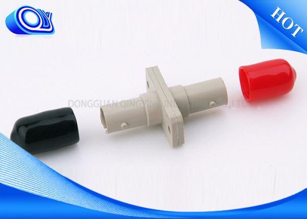 Quality Adaptateur rouge et noir du plastique ST-ST d'adaptateur optique recto de fibre de chapeau de place for sale