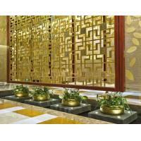 China Bronze Cooper  Metal Laser Cut Panels Color stainless steel room dividers For Hotels Villa Lobby Decoration 304 316 wholesale