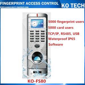 China KO-FS80 Metal Case Fingerprint Reader Standalone Entry Access Control wholesale