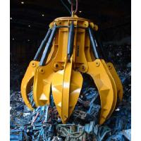 China Hydraulic 6 Peel Grab OUCO Grab For Engineer Construction Spot on sale