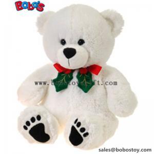 China 11White Xmas Soft Plush Teddy Bear Christmas Toy wholesale