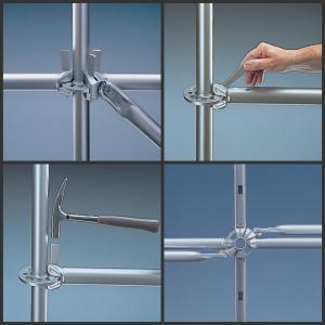 China O andaime resistente do sistema de Ringlock da construção seja widle usado na construção/maintaince industrial wholesale