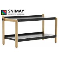 China Customised Small Wooden 2 Tier Shoe Rack for Home , Office , Hotel on sale