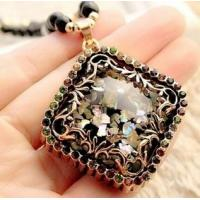 China Many Choice for You Opal Long Sweater Chain Accessories Pendant Necklace wholesale