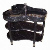 China Union Stone, Three Level Black Marquina Cheap Marble Vanity Tops  wholesale
