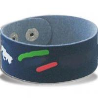China Fashionable Bracelet/Wristband, Made of PU/Leather, Customized Colors are Accepted wholesale
