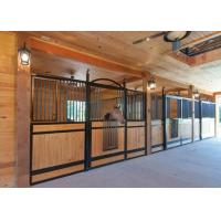 China Readymade Modular Horse Stall Kits , Bamboo / Pine Infill Equine Stall Fronts wholesale