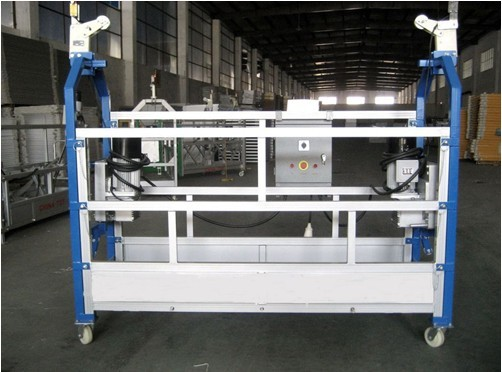 Quality 10M Safe ZLP630 Aluminium Alloy Rope Suspended Platform Cradle Swing Stage for sale