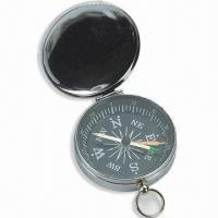 China Mini Compass with Plastic Case, Small Metal Ring on Top, Customized Colors are Welcome wholesale