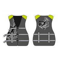 China Brown Nylon PFD Neoprene Life Jacket with 38mm Buckle and PP Webbing wholesale