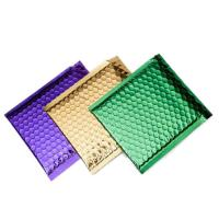 China Colorful Metallic Glamour Bubble Mailers , Metallic Shipping Envelopes Tear Resistant wholesale