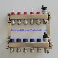 China ZZ18858 Pre-assembled floor heating manifold with flow meters , Radiant Heat Manifold Assembly wholesale