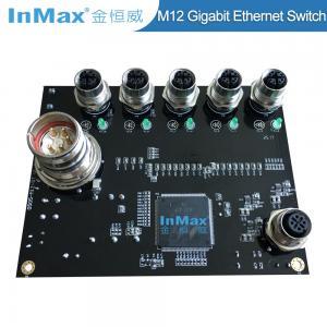 China EN50155 EN505A Power M23 X-code 1000M M12 5 Port Gigabit Car Industrial Ethernet Switch wholesale
