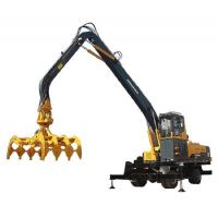China 40 Ton Yellow Hydraulic Timber Log Handler Excavator Industrial Material Handling Equipment on sale