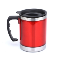 China Plastic Handle BSCI 13 Ounce Stainless Steel Insulated Mug wholesale