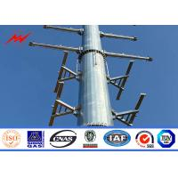 China 18m 22m 132kv Round Hot Dip Galvanised Metal Pole For Transmission Line on sale