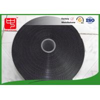 China 11 inches black hook and loop tape injection plastic hook and loop super thin hook wholesale