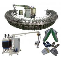 China Good quality pu shoe soles pouring machine with rotary production line wholesale