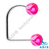 Newest 316L 14G Dermal Anchor Jewelry With Acrylic Marble Pattern Ball