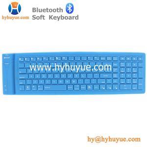 China Bluetooth 109 Keys Wireless Silicon PC/ Tablet/Laptop/ Smartphone Soft Keyboard Waterproof on sale