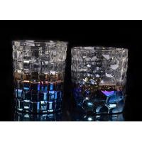 Dimpled Nail Embossed Glass Tea Candle Holders Glass Dome Candle Holder