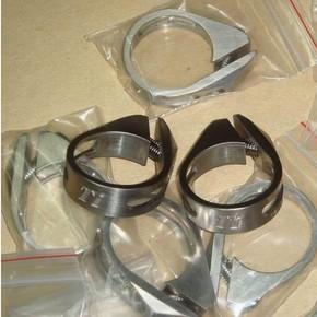 China Titanium Bike Parts GR5 6Al/4V Titanium Bicycle Seat Clamp 31.8MM on sale