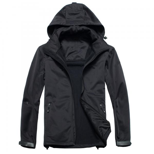 Quality Collapsible Mens Hooded Fleece Jacket With Environmental Material for sale