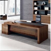 Buy cheap Oak manager luxury executive office desk wooden office desk on sale 2400*1200 from wholesalers