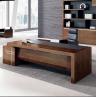 China Oak manager luxury executive office desk wooden office desk on sale 2400*1200*750mm oak color wholesale