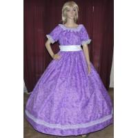 China Wholesale CIVIL WAR VICTORIAN DICKENS SOUTHERB BELLE SASS Purple Print Costume Dress Gown wholesale