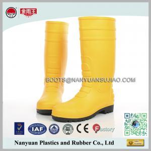 China 828 Matte PVC Waterproof Construction Working Safety Rain Boots wholesale