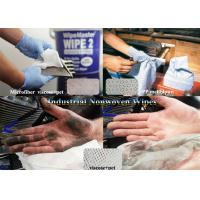 China ISO White Viscose+pet,Microfiber,Woodpulp Oil Absorbent Industrial Use Spunlace Nonwoven Wipes on sale