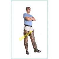 China FQT1903 Forest-Camouflage PVC Skidproof Underwater Outdoor Fishing Waders with Rain Boots wholesale