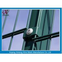 China Green Color PVC Coated Double Wire Fence 200*50mm Dark Convenient Installation wholesale
