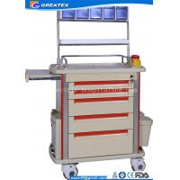 Multi Function Medical Trolley Five Drawers With Anesthesia Stand & Storage Box ABS Anesthesia Troll  (GT-TAQ202)