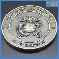 China Offset printing USS San Antonio United States Marine Corps Staff Sergeant coins wholesale