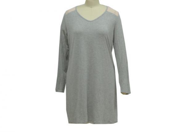 Quality Comfortable Ladies Night Dresses Sleepwear Women'S Long Sleeve Nightshirt OEM for sale
