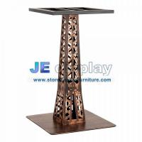 China Custom furniture of stainless steel cafe table base handle made vintage in brass finish wholesale