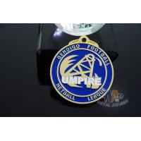 Buy cheap Football, Diving Or Basketball Sports Events Racing Metal Award Medals, Imitation Gold Plting With Blue Soft Enamel from wholesalers
