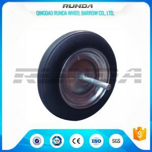 China Steel Full Spoke Rim Solid Rubber Wheels 256mm Hub Length OEM/ODM Available wholesale