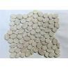 China Grey Wooden Pebbles Natural Stone Mosaic Tile Sheets , Stone Mosaic Wall Tiles wholesale