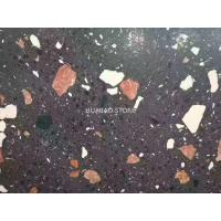 China Honed Flamed Terrazzo Stone tiles slab for flooring of outdoor plaza hotel stores wholesale