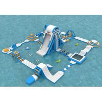 China Sea Inflatable Floating Water Park , Giant  Adult Inflatable Water Splash Park Equipment wholesale