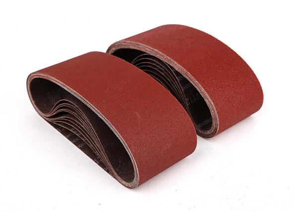 Quality Aluminum Oxide Abrasive 4 x 24 Sanding Belts / Cloth Sanding Belt for sale
